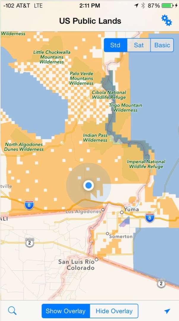 U.S. Public Lands Travel app