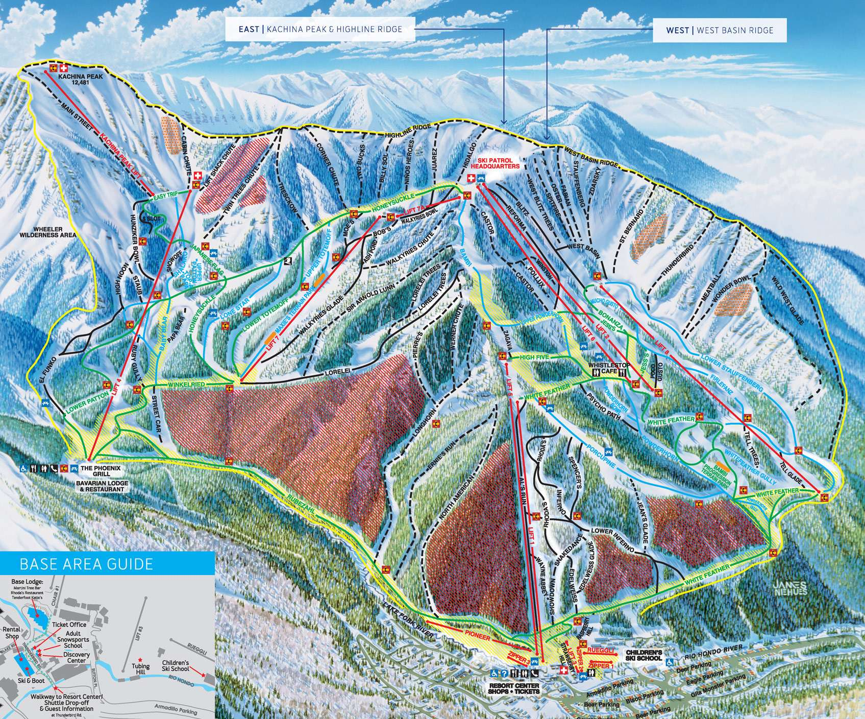 ski taos trail map