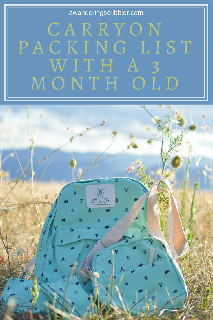 Carryon Packing List with a Three Month Old