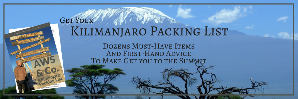 Kili Packing List
